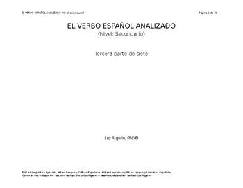 El verbo español analizado - 3 de 7