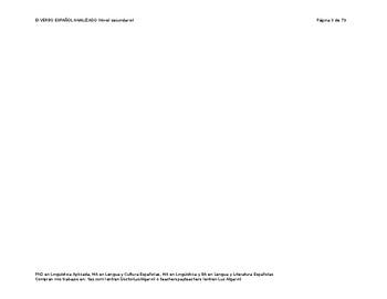 El verbo español analizado - 4 de 7