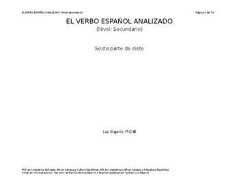 El verbo español analizado -  6 de 7