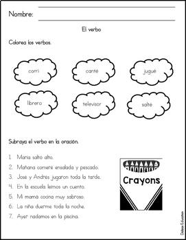 El verbo | singular y plural in spanish