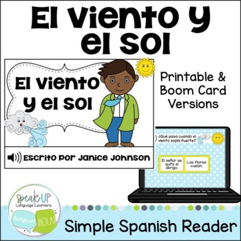 El viento y el sol ~ Spanish Wind & the Sun Fable Reader ~Simplified