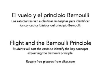 El vuelo y el principio Bernoulli/Flight and the Bernoulli