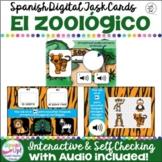 El zoológico ~ Spanish Zoo Animal Vocabulary Digital BOOM™ Task Cards with Audio