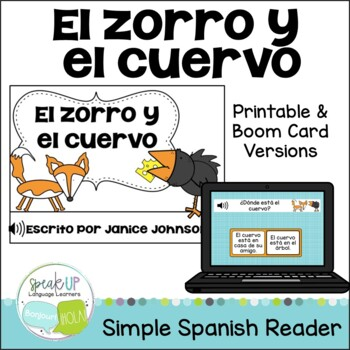 El zorro y el cuervo ~ Spanish Fox &the Crow Fable Reader