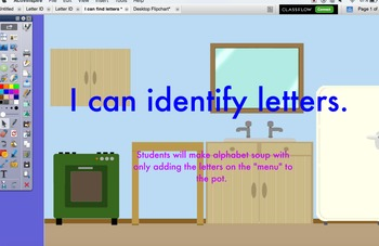 ELA / Integrated ELD:  Letter ID Interactive Flipcharts