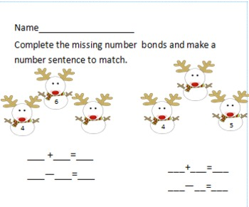 Ela and Math Christmas/winter Packet for Grade 1 or 2