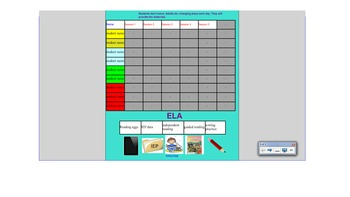 Ela and Math rotation smartboard for Self-Contained classrooms