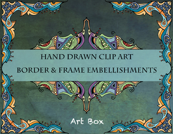 Elaborate Corners and Decorative Elements Clip Art - 34 images