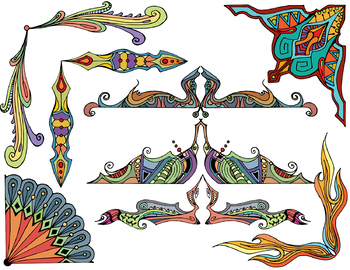 Elaborate Corners and Decorative Elements Clip Art - 34 images
