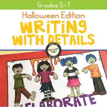 Writing with Details Halloween Task Cards