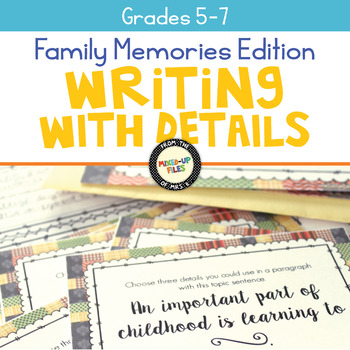 Family Memories Writing Task Cards