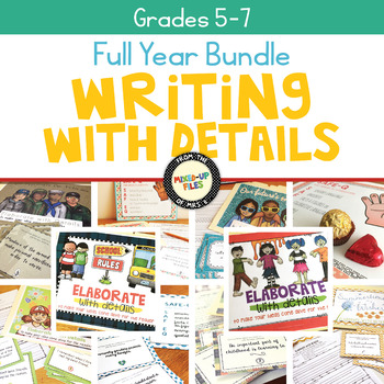 Elaborate with Details Writing Task Card Bundle