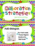 Elaboration Anchor Chart Cards