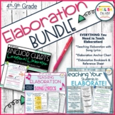 Elaboration BUNDLE, Teaching Elaboration, Writing, Paragraph Writing