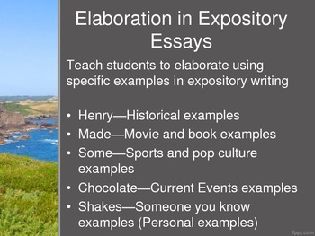 Elaboration Examples in Expository Essays--Thrill Seeking Activities