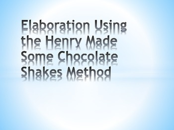 Elaboration Examples in STAAR Formatted Expository Essays-