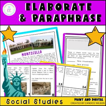 Elaboration Made Easy (for Informational Text Writing)