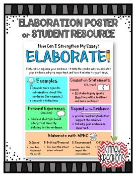 Elaboration Poster