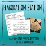 Elaboration Practice - Hands-on Activity / Worksheet