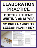 Elaboration Practice with No Prep Poetry Analysis Lesson Plan and Activities