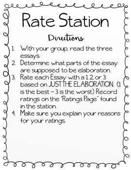 Elaboration Stations - Practice for Elaboration in Writing Expository/Opinion
