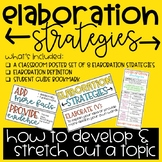 Elaboration Strategies: Poster Set & Student Bookmark