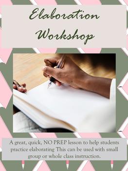 Writing Workshop: Elaboration