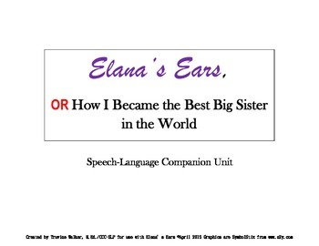 Elana's Ears  Speech-Language Unit