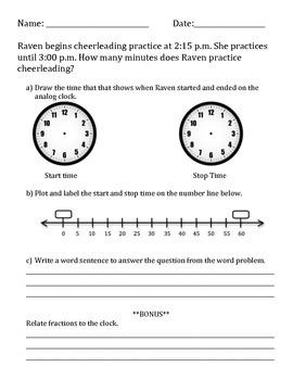 Elapse Time Worksheets