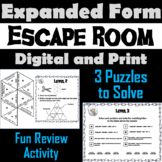 Expanded Form Game: Escape Room Math