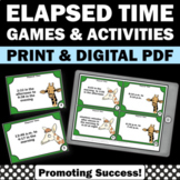 Elapsed Time Task Cards, Telling Time Game, 3rd Grade Math Review Game SCOOT