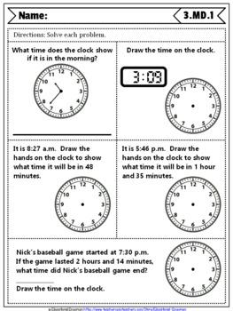 Time Mega Bundle: Telling Time & Elapsed Time Bundle {Common-Core Aligned}