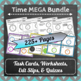 The ⭐ULTIMATE⭐ Common-Core Aligned Telling Time / Elapsed Time Centers Bundle