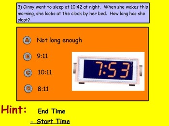 Basic Math Skills - Time - Elapsed Time (worksheet included) (SMART BOARD)