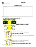 Basic Math Skills - Time - Elapsed Time Worksheet