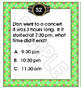 Telling Time Elapsed Time Task Cards - 4 Sets of Word Problems / Story Problems