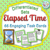 Telling Time with Elapsed Time Task Cards and Word Problem