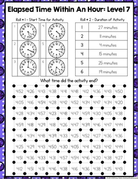 Elapsed Time Within An Hour: Elapsed Time Games (Multi-Level)
