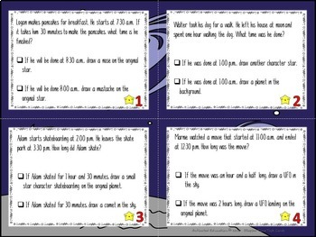 Elapsed Time Color by Answer Task Cards