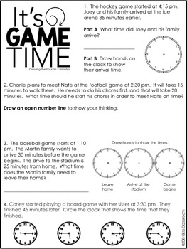 Elapsed Time Word Problems - Worksheets for CCSS 3.MD.1 by ...
