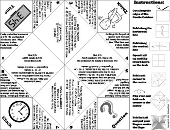 Elapsed Time Word Problems Practice Activity Game for 3rd, 4th, 5th Grade
