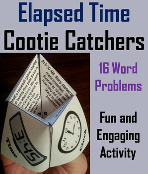 Elapsed Time Word Problems Practice Activity Game for 3rd,