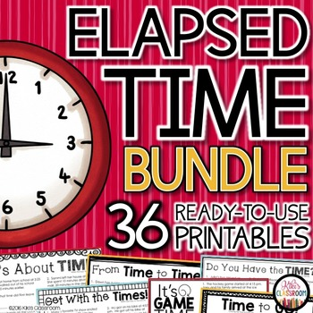 Elapsed Time 3rd Grade - Activities, Printables, & Word Problems