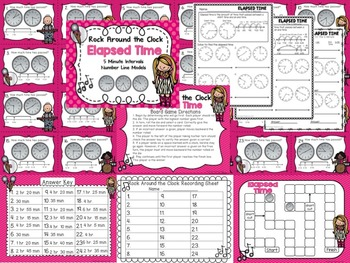 Elapsed Time - 3 Game Differentiated Bundle and Printables