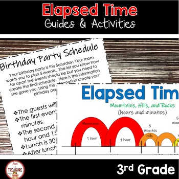 Elapsed Time Activities, Worksheets and Task Cards BUNDLE
