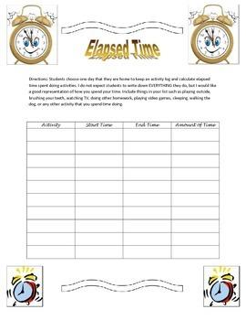 Elapsed Time Activity Log