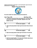Grade 3 Common Core Elapsed Time Activity Packet