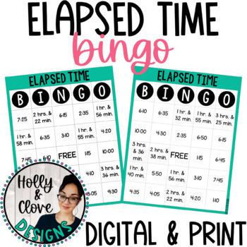 Elapsed Time BINGO - Digital & Print Versions - NO PREP Game