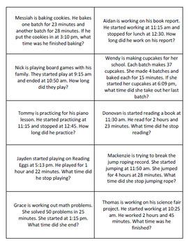Elapsed Time Bingo