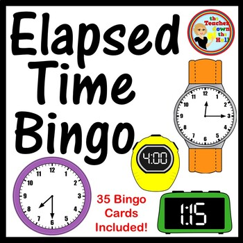 Elapsed Time Bingo - w/ 35 Bingo Cards!